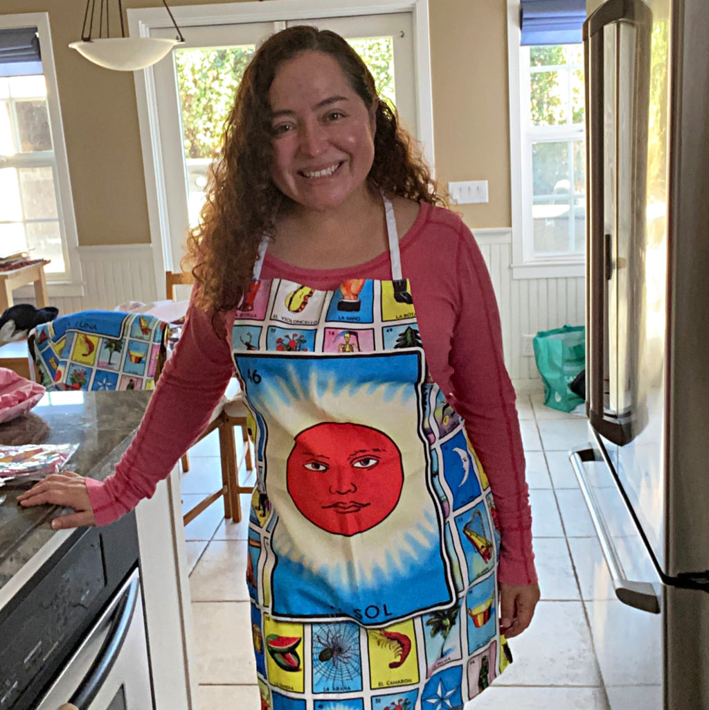 El Sol Loteria Apron with Pocket