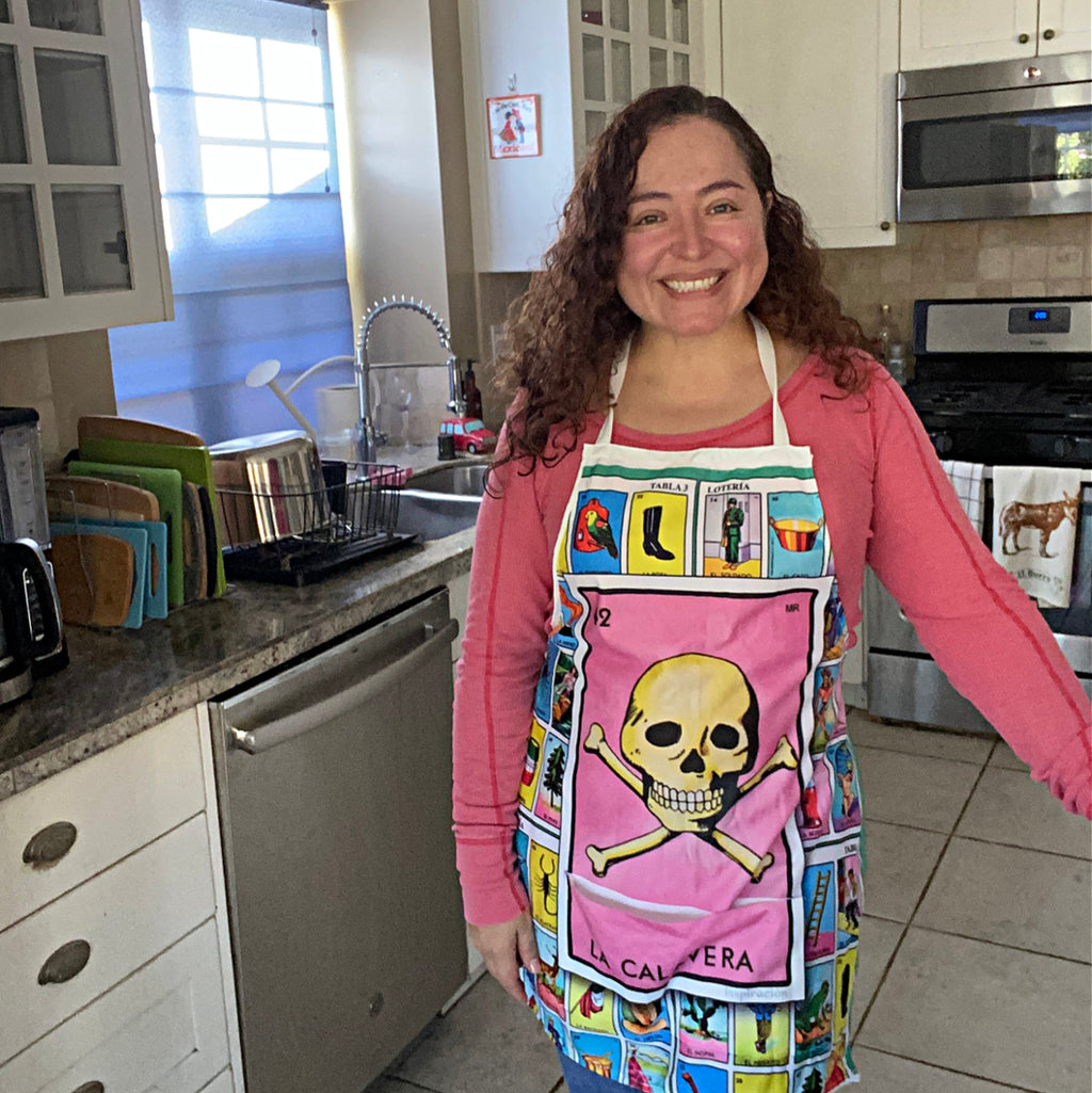 La Calavera Loteria Apron with Pocket