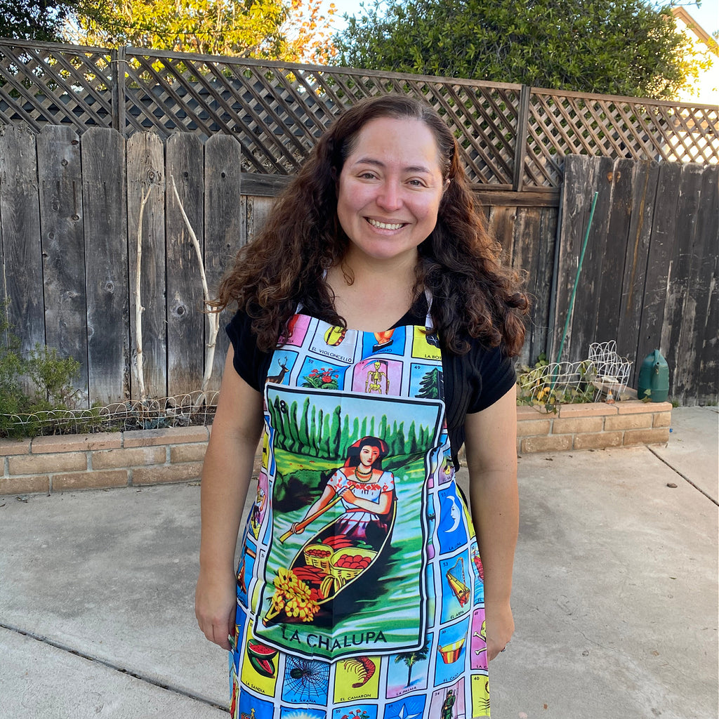 La Chalupa Loteria Apron with Pocket