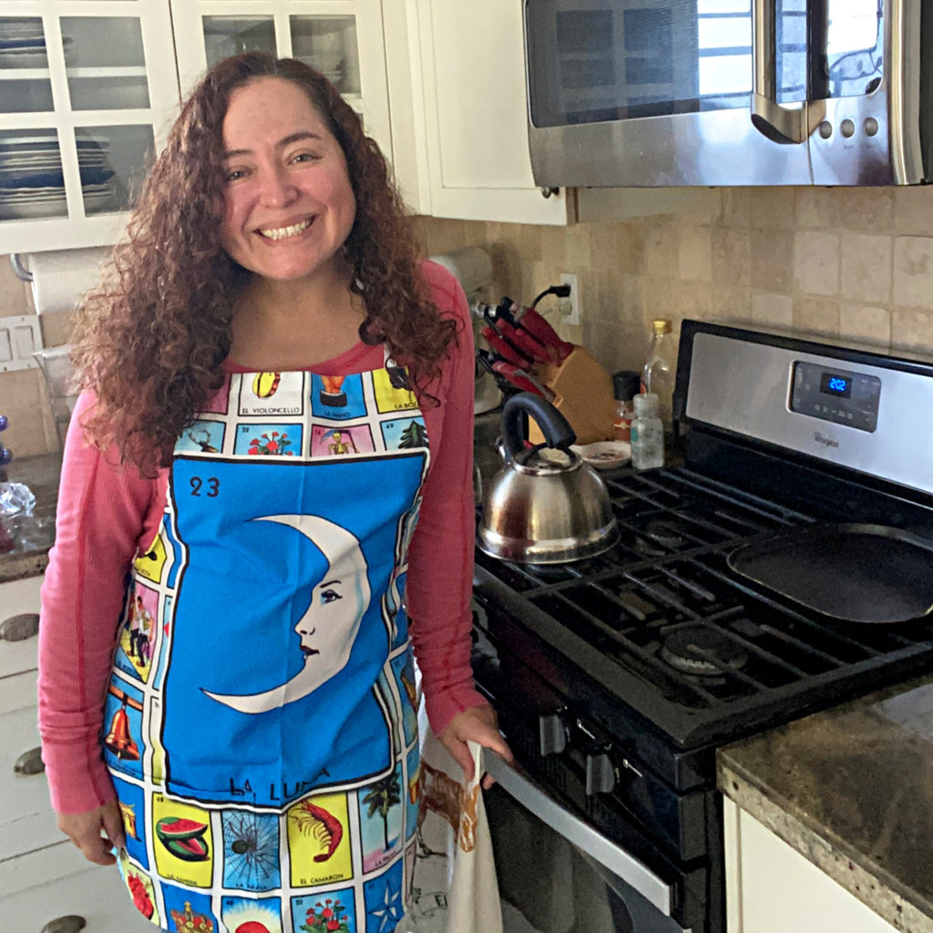 La Luna Loteria Apron with Pocket
