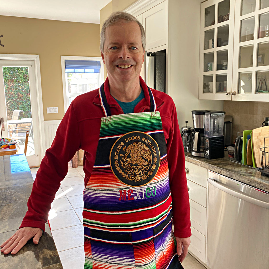 Mexican Eagle Seal (Gold on Black) Satillo Blanket Apron