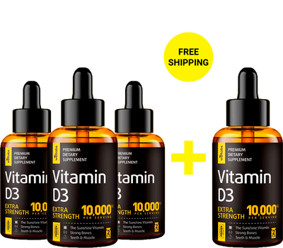 Vitamin D3 Drops - Buy 3 Get 1 Free