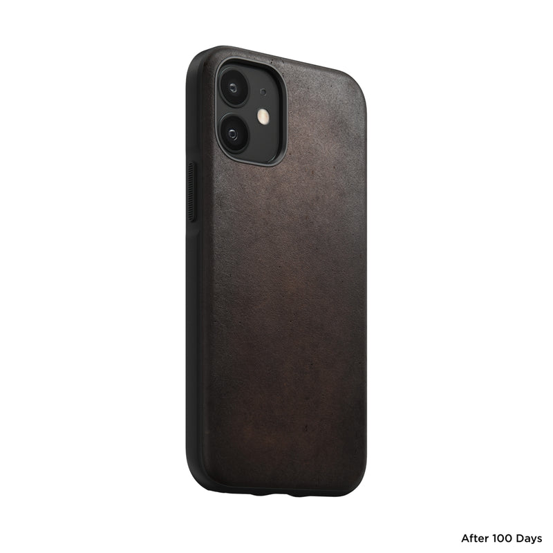Rugged Case Rustic Brown leather iPhone 12 Mini - iStore