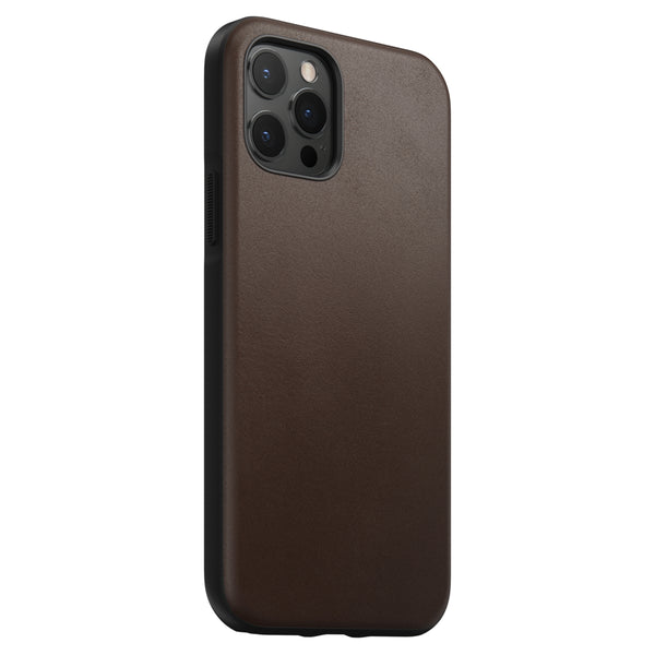Rugged Case Rustic Brown leather iPhone 12 / 12 Pro - iStore
