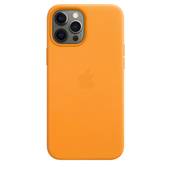 Apple iPhone 12 Pro Max Leather Case MagSafe - California Poppy - iStore24.de
