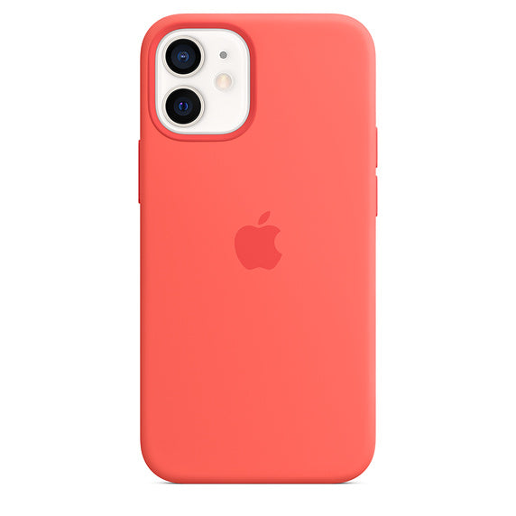 Apple iPhone 12 mini Silicone Case with MagSafe - Pink Citrus - iStore