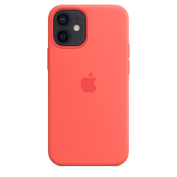 Apple iPhone 12 mini Silicone Case with MagSafe - Pink Citrus - iStore24.de