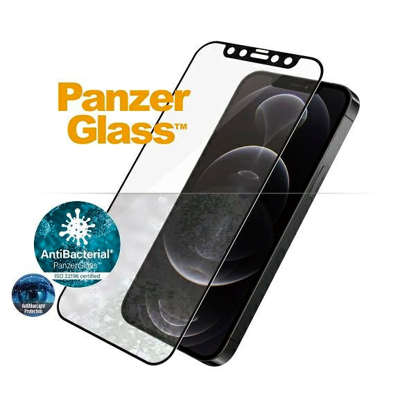 PanzerGlass™ iPhone 12/12 Pro Schwarz - Anti-Bluelight - iStore