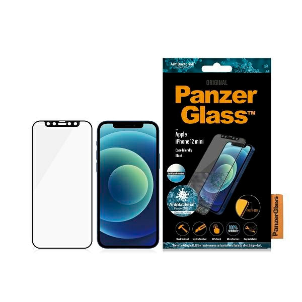 PanzerGlass™ iPhone 12 Mini Schwarz Anti Glare - iStore