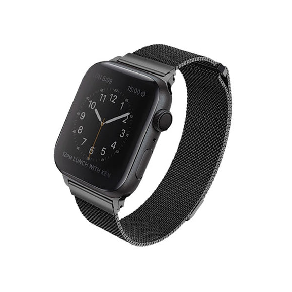 UNIQ - Dante Apple Watch Series 40mm Stainless Steel Midnight Black - iStore24.de