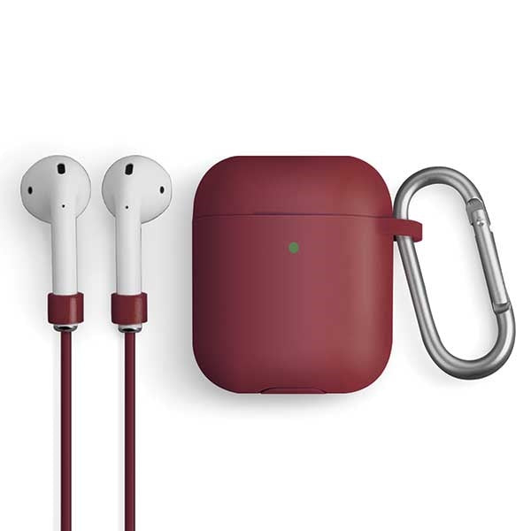 Vencer AirPods 1/2 gen. Silicon Case red - iStore