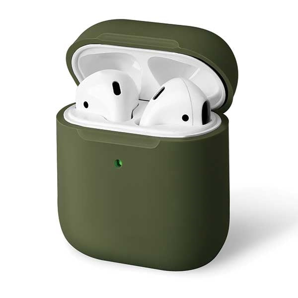 Lino AirPods 1/2 gen. Silicone Hülle Olive Green - iStore