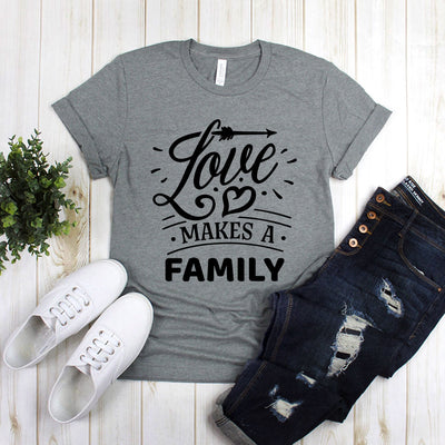 Love Makes A Family With Heart And Arrow
