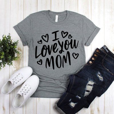 I Love You Mom With Six Hearts