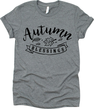 Autumn Blessings Leaves Design