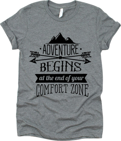 Adventure Begins At The End Your Comfort Zone