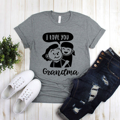 I Love You Grandma With Me And Grandma