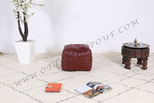 Load image into Gallery viewer, Brownish Leather Pouf