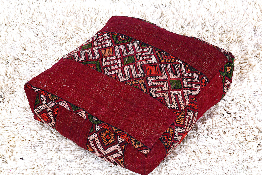 Floor cushion kilim pouf