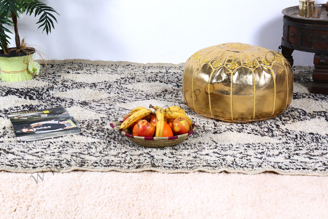 Wedding Gift Gold Ottoman Pouf