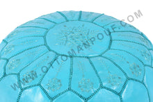 Load image into Gallery viewer, Blue Ottoman Blue Pouf