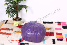 Load image into Gallery viewer, Purple Ottoman Pouf
