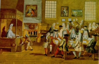 A Mad Dog in a Coffee House, Thomas Rowlandson, 1809. Yale Centre for British Art, The William K. Rose and Eugene A. Carroll Collection