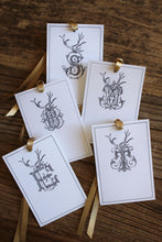 Load image into Gallery viewer, Antler Monogram Gift Tags