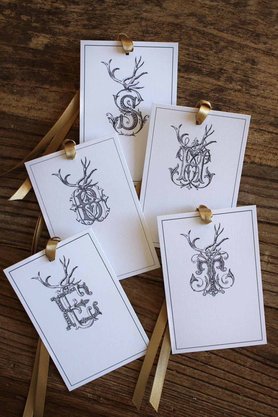 Antler Monogram Gift Tags