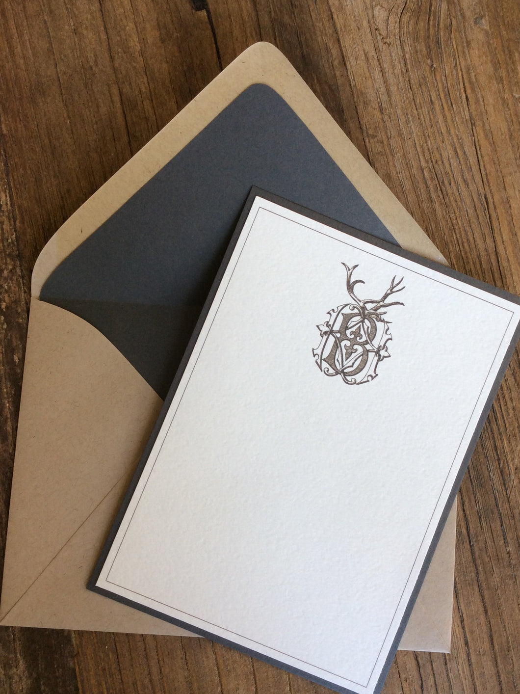 Antler Monogram Stationery