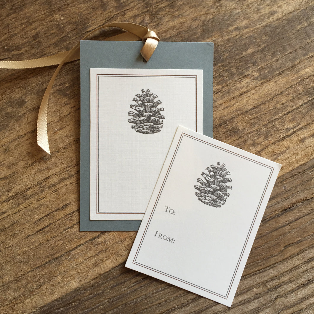 Pinecone Gift Tags & Labels
