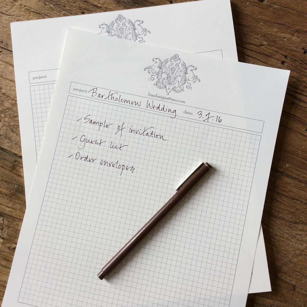 Personalized Project Notepads