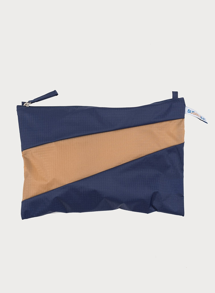 The New Pouch Navy & Camel Large