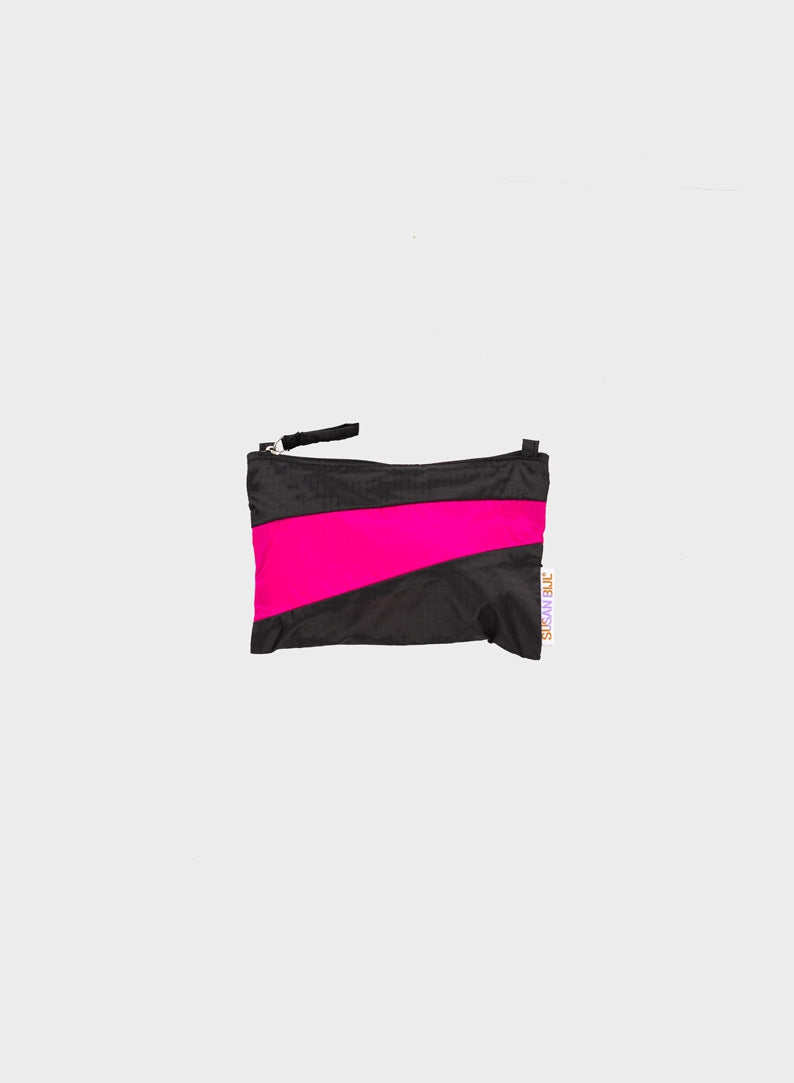 The New Pouch Black & Pretty Pink Small