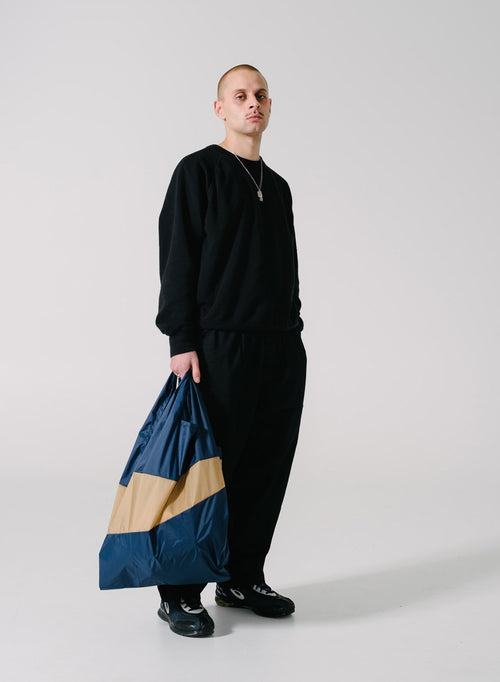 The New Shopping Bag Navy & Camel Large