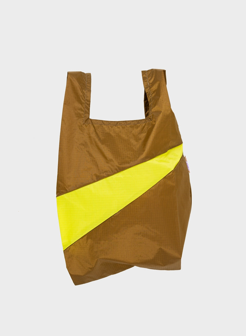 The New Shopping Bag Make & Fluo Yellow Medium