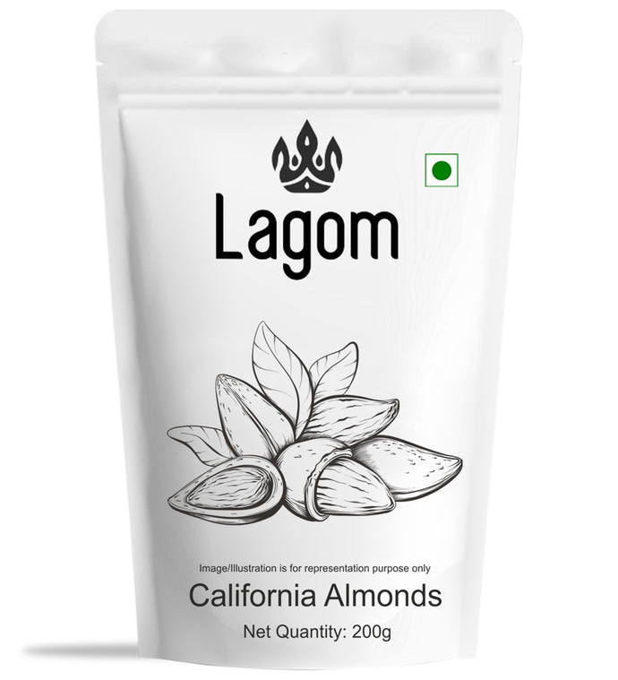 Lagom California Almonds (Baadaam)