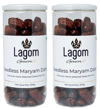 Load image into Gallery viewer, Lagom Gourmet Seedless Irani Piarom Maryam Dates (Khajoor)