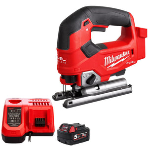 Milwaukee M18FJS-0X 18V Brushless Fuel Jigsaw with 1 x 5.0Ah Battery Charger