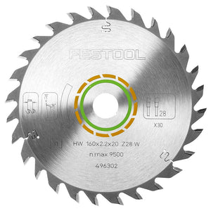 Festool Universal Saw Blade 160x2, 2x20 W28 For TS55 Plunge Saw 496302
