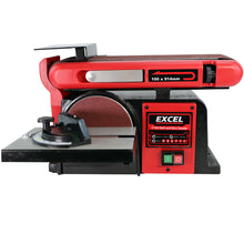"Load image into Gallery viewer, Excel 370W 4"" Electric Bench Belt & Disc Sander Heavy Duty 240V"