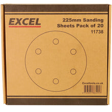 Load image into Gallery viewer, Excel 225mm Sanding Sheet Pack of 20 Piece