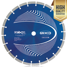 "Load image into Gallery viewer, Mexco 115mm 4.5"" Concrete Professional Grade Diamond Blade Cutting Disc"
