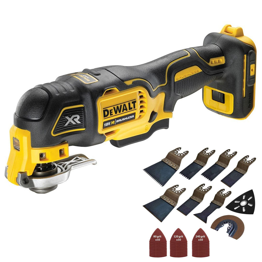 Dewalt DCS356N 18V Oscillating Brushless Multitool with 39 Piece Accessories Set