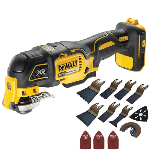 Dewalt DCS355N 18V Oscillating Brushless Multitool Body with 39 Piece Accessories Set
