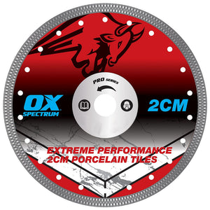 "OX Pro 115mm 4.5"" Porcelain Tile Cutting Blade Wet & Dry"