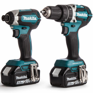 Makita DLX2180TJ 18V LXT 2 Piece Brushless Kit 2 x 5.0Ah Batteries & Charger in Case