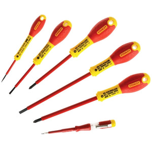 Stanley FatMax VDE Insulated Phillips & Parallel Screwdriver Set of 6 STA065441