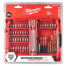 Load image into Gallery viewer, Milwaukee Shockwave Impact Screwdriver Bit Set 49 Piece 4932472057