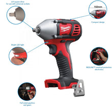 Load image into Gallery viewer, Milwaukee M18BIW38-0 18V Compact 3/8In Impact Wrench Body Only 4933443600